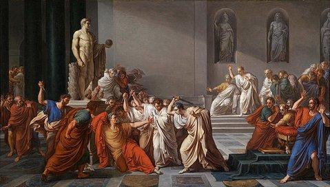la muerte de cesar vincenzo camuccini