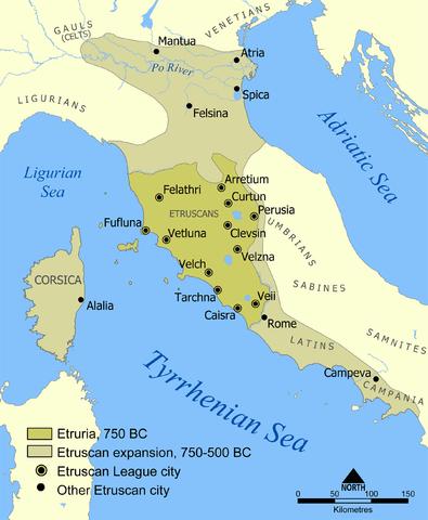 mapa civilizacion etrusca