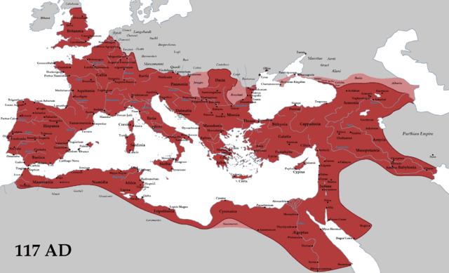maxima extension imperio romano trajano 117